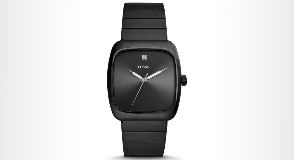 Fossil - Rutherford Carbon Series Black Stainless Steel watch