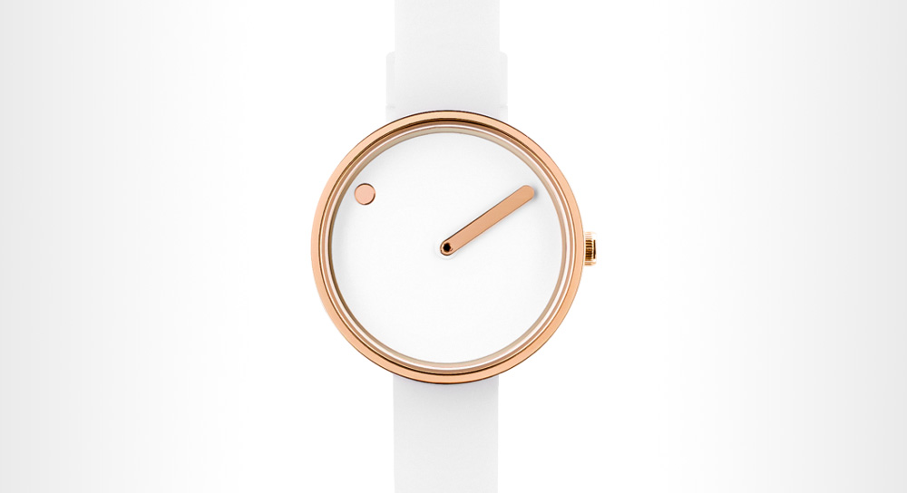 Picto - 30 Mm White/Polished Rose Gold watch