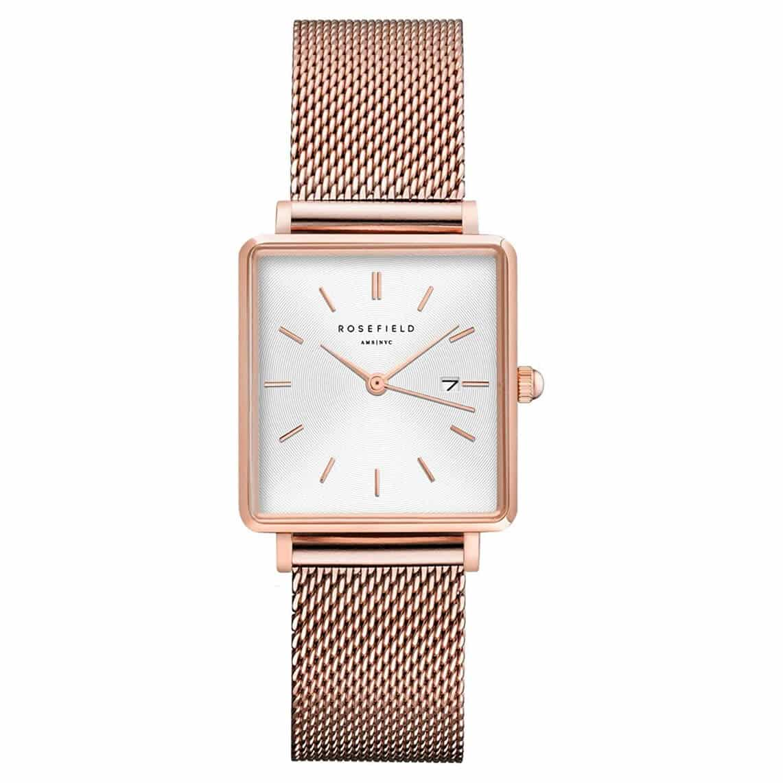 Rosefield Women's Year-Round Quartz Watch with Stainless Steel Strap, Rose Gold