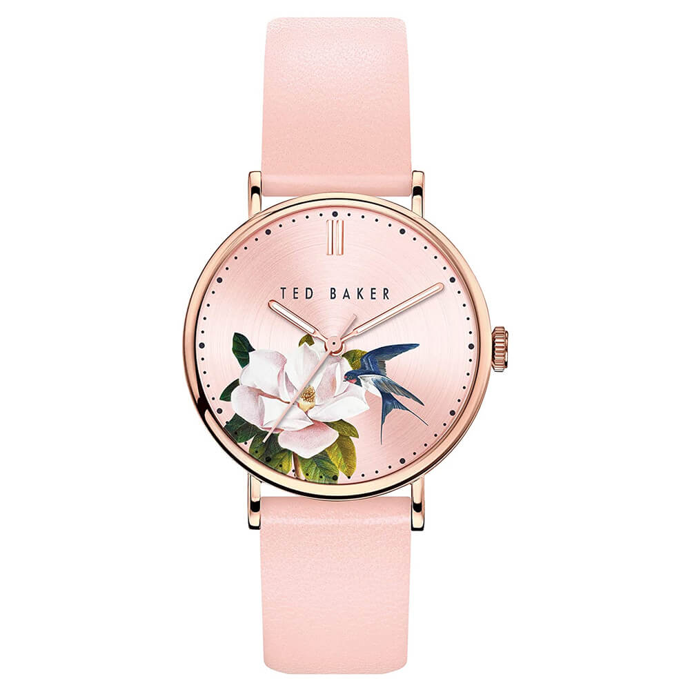 Ted Baker Women's PHYLIPA Flowers Stainless Steel Quartz Watch