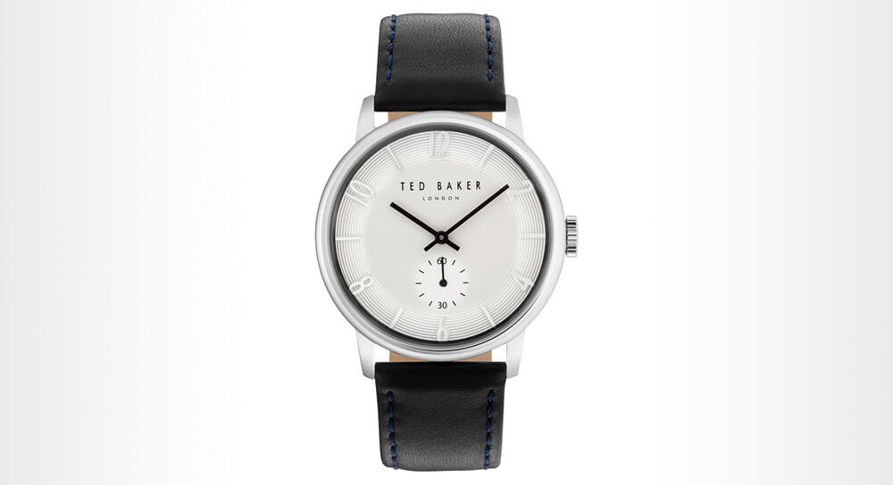 Ted Baker Daniel Leather Strap Watch 42 mm
