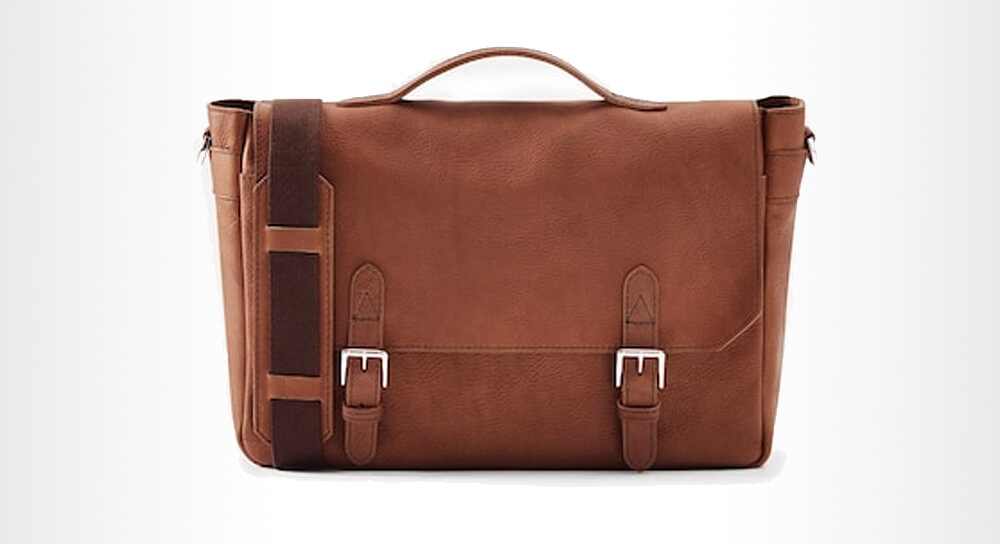 Frank and Oak - Italian Leather Messenger Bag