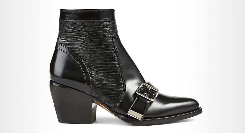CHLOE - Rylee Leather Heeled Ankle Boots With Buckle