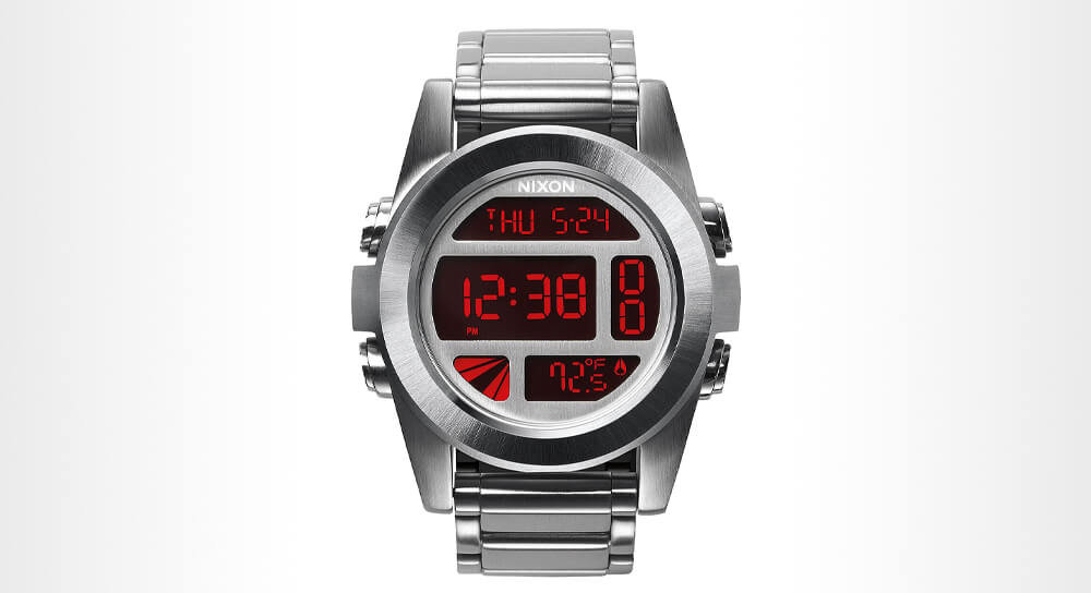Nixon - Unit Stainless Steel Watch - Silver Red