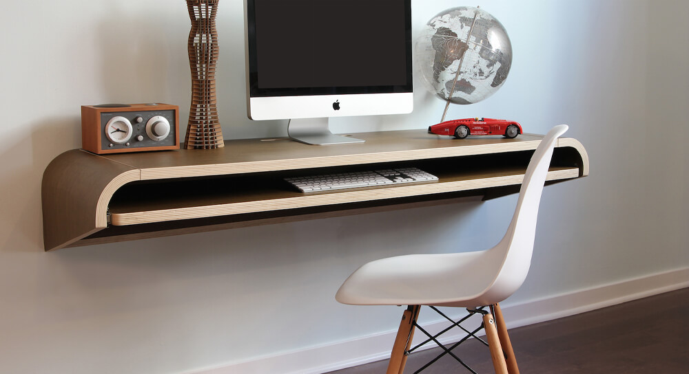 Orange22 Modern Minimal Wall Desk