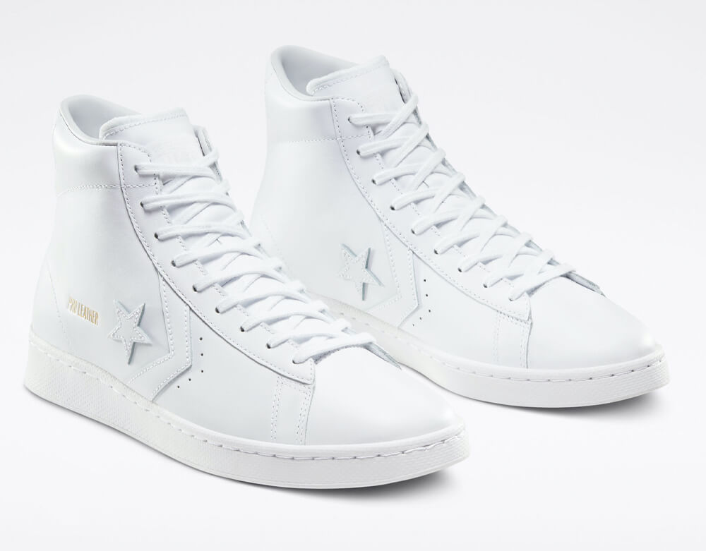 Converse - All Star Pack Pro Leather all-white sneakers