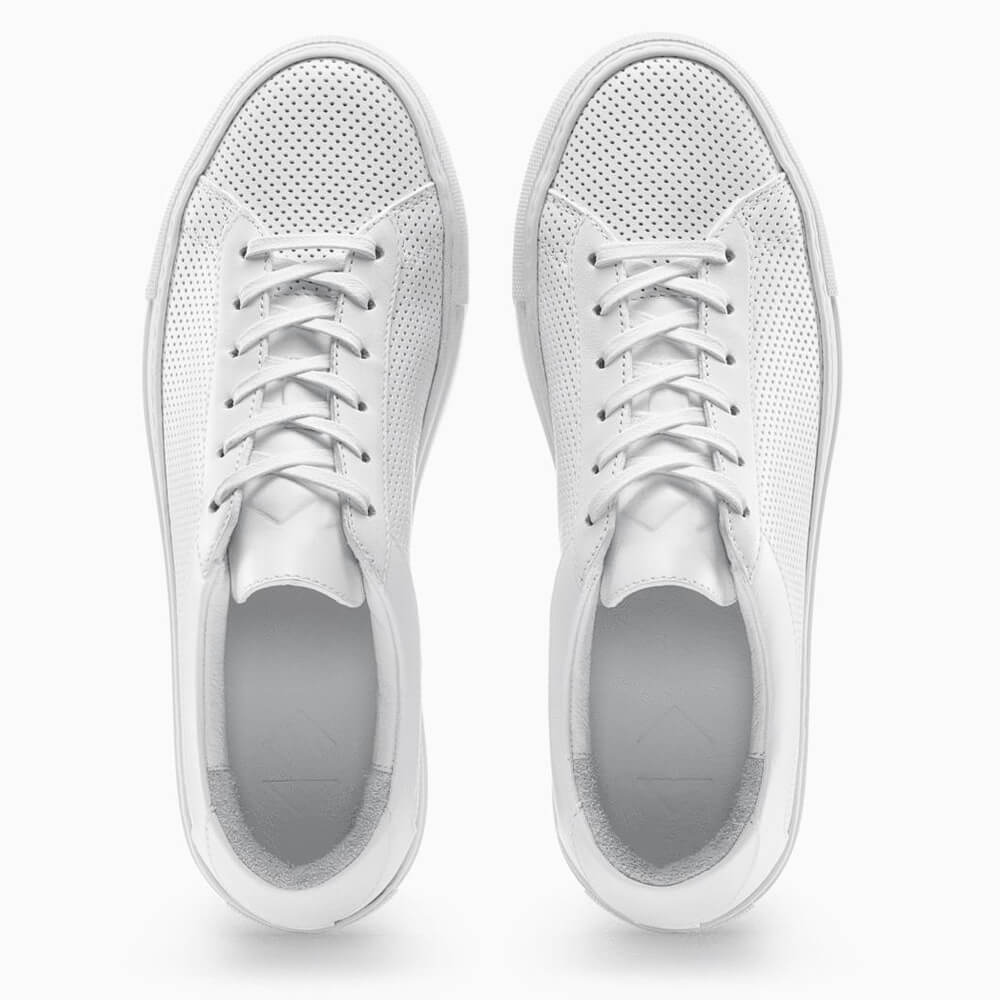 Koio - Men's CAPRI TRIPLE WHITE PERFORATED sneakers