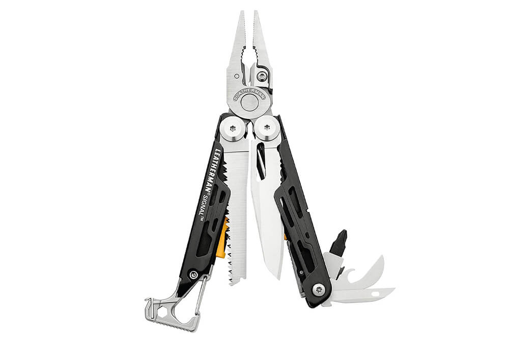 LEATHERMAN - Signal Camping Multitool with Fire Starter, Hammer, and Emergency Whistle