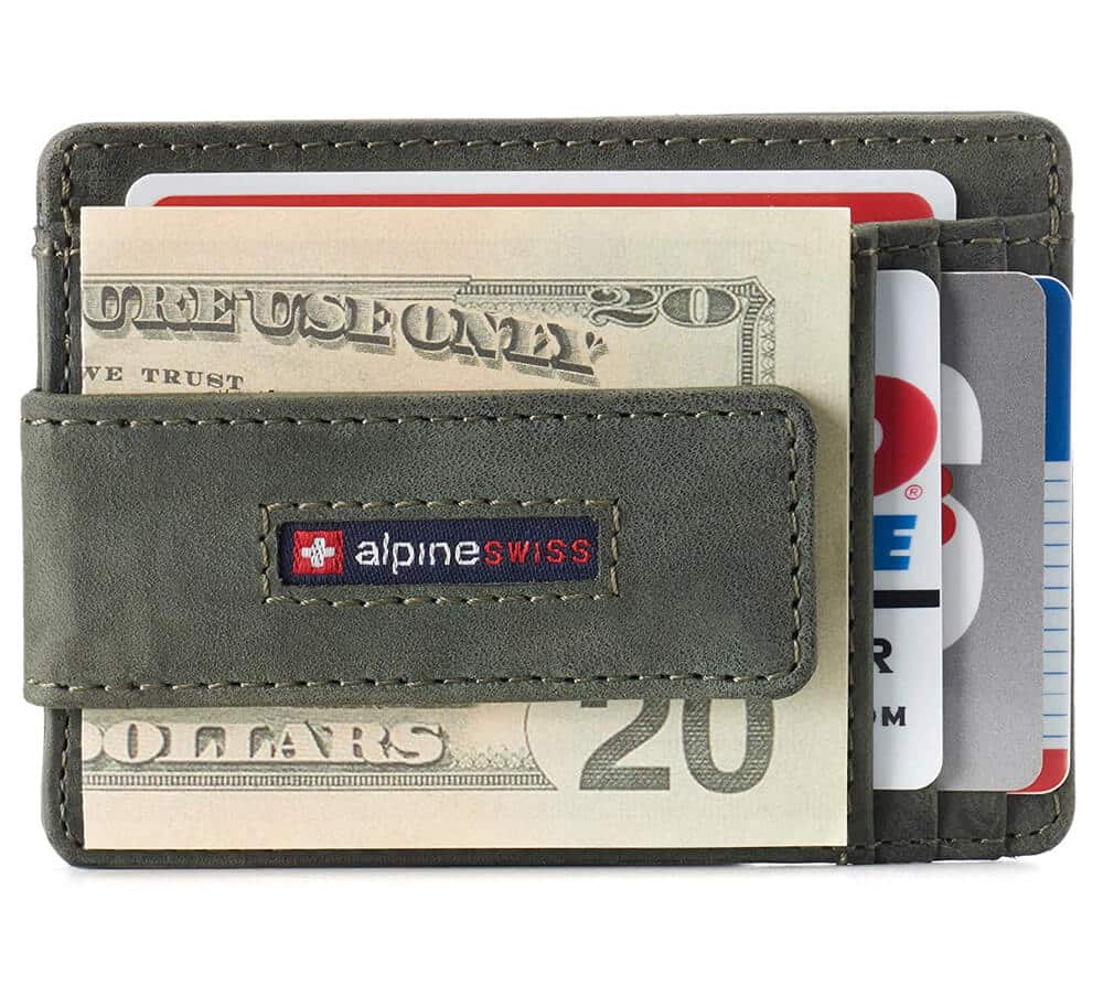 Alpine Swiss RFID Harper Money Clip Wallet