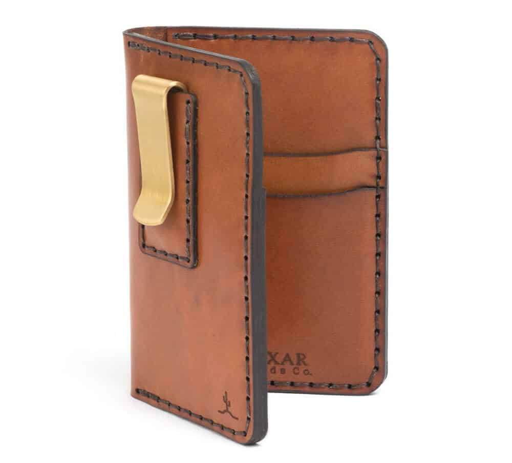 Bexar Goods Vertical Card Wallet With Money Clip