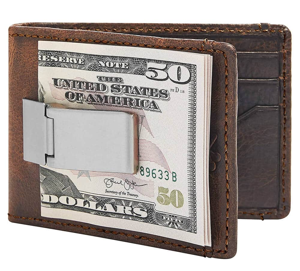 House of Jack Deacon ID BIFOLD Front Pocket Wallet-Full Grain Leather-Bifold Money Clip Wallet
