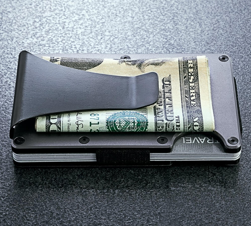 The Ridge - Aluminum Wallet Money Clip