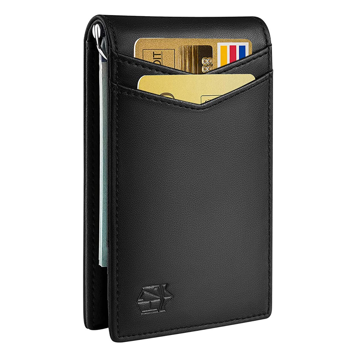 Zitahli Minimalist Bifold Front Pocket Wallet with Money Clip