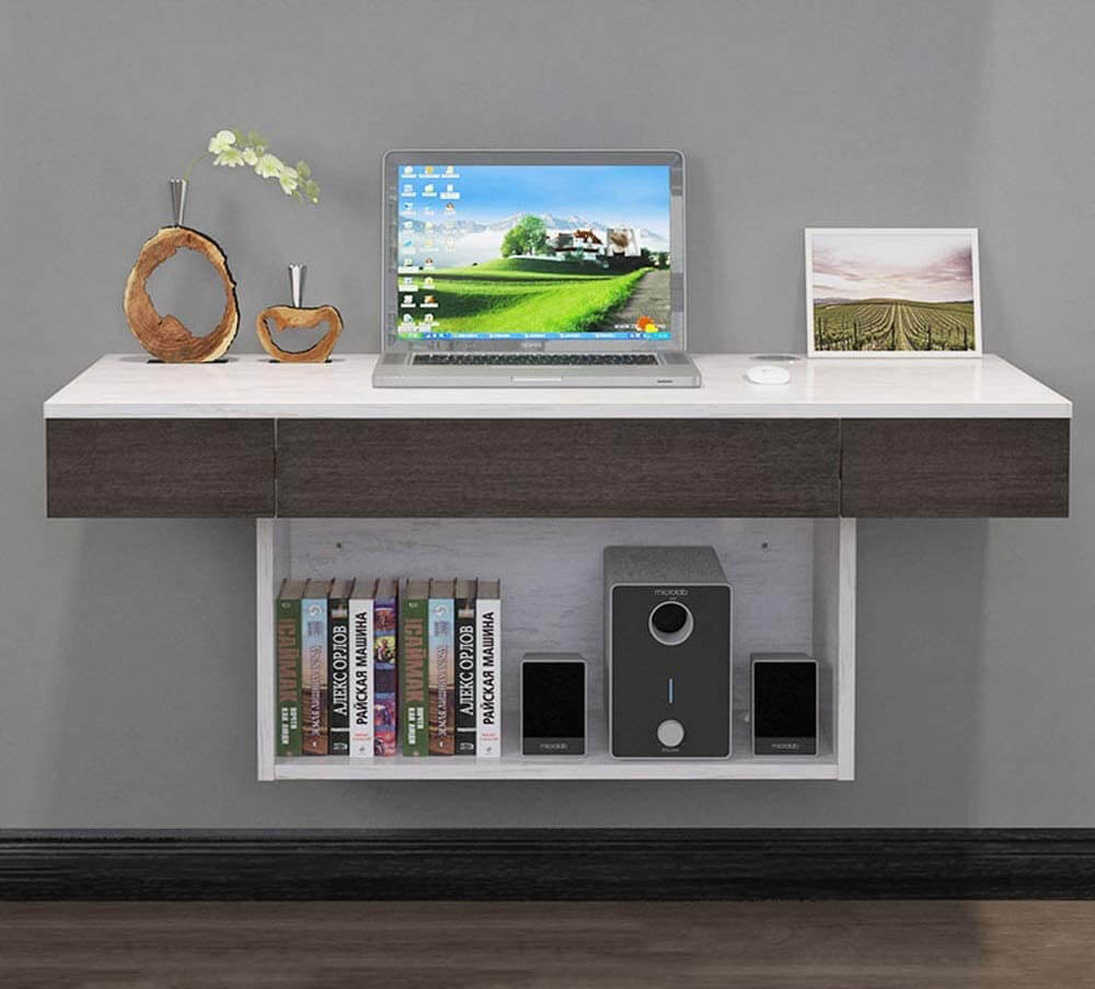 AFEO-TV mount Computer Desk Wall Shelf Floating Shelf