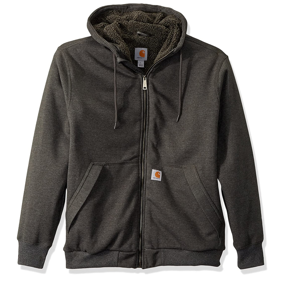 Carhartt Men's Rain Defender Rockland Sherpa Lined Hooded Sweatshirt