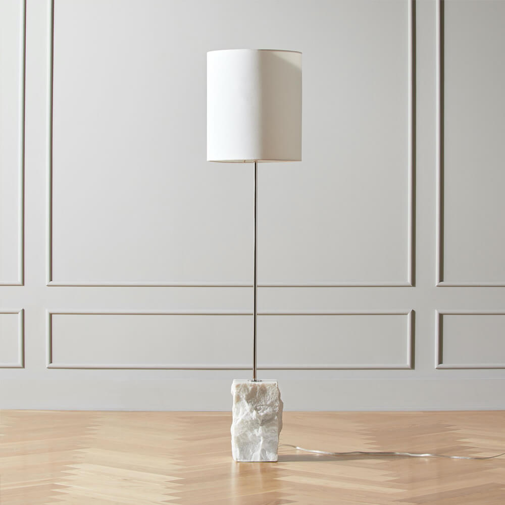 CB2 Raw Marble Floor Lamp