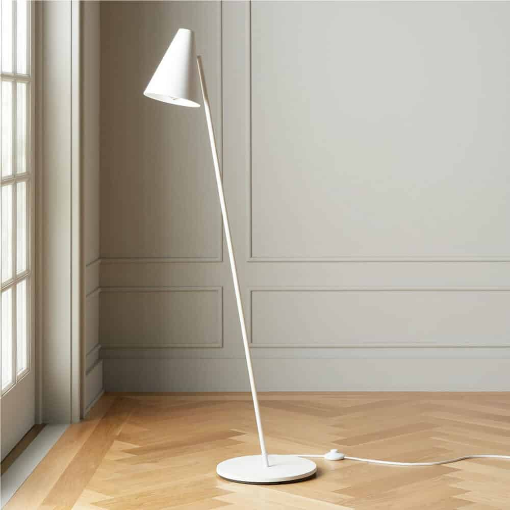 Task Matte White Floor Lamp