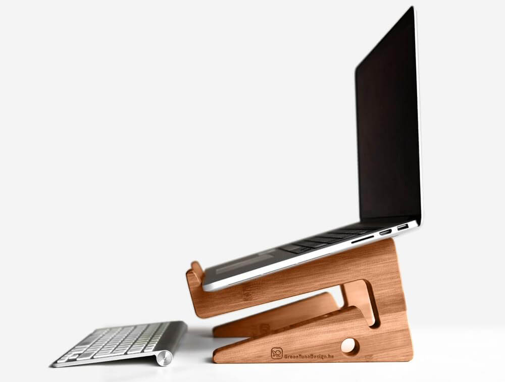 Green Tuna Design - Wood Laptop Stand