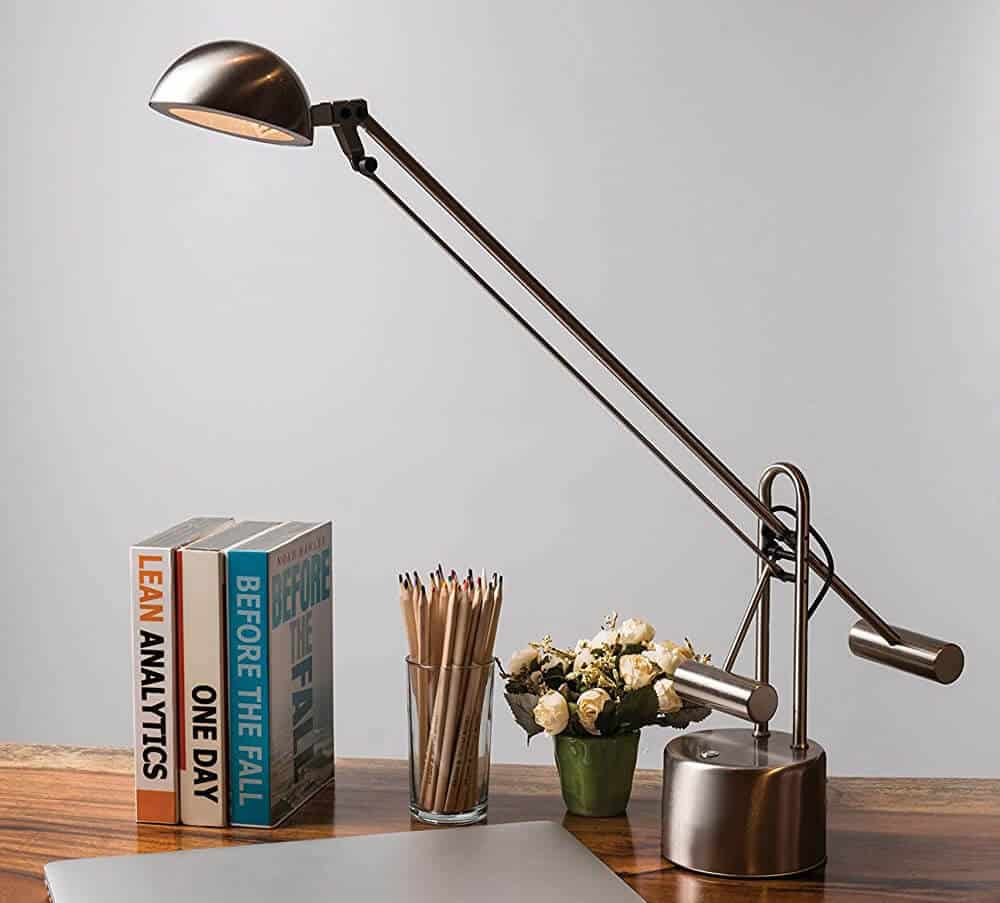 Lite Source LS-306PS Halotech 29-Inch 8W LED Desk Lamp, Polished Steel