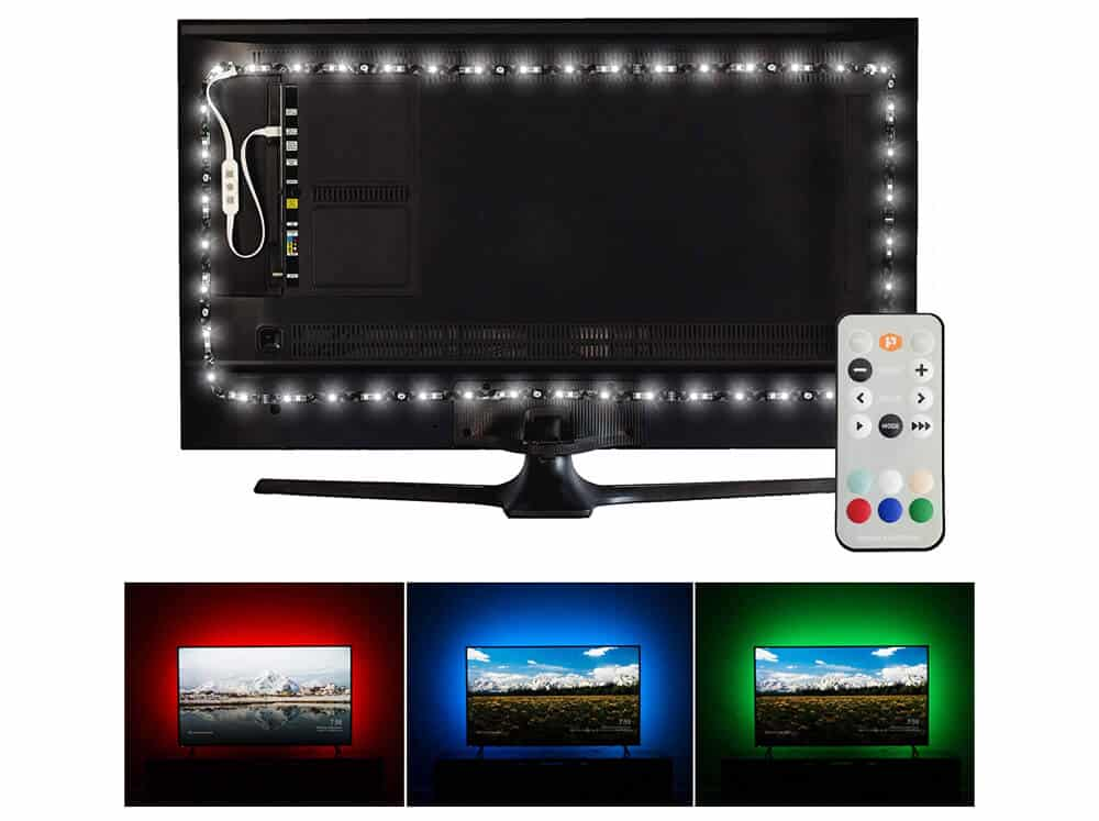 Luminoodle USB Bias Lighting - Ambient Home Theater Light, LED Backlight Strip