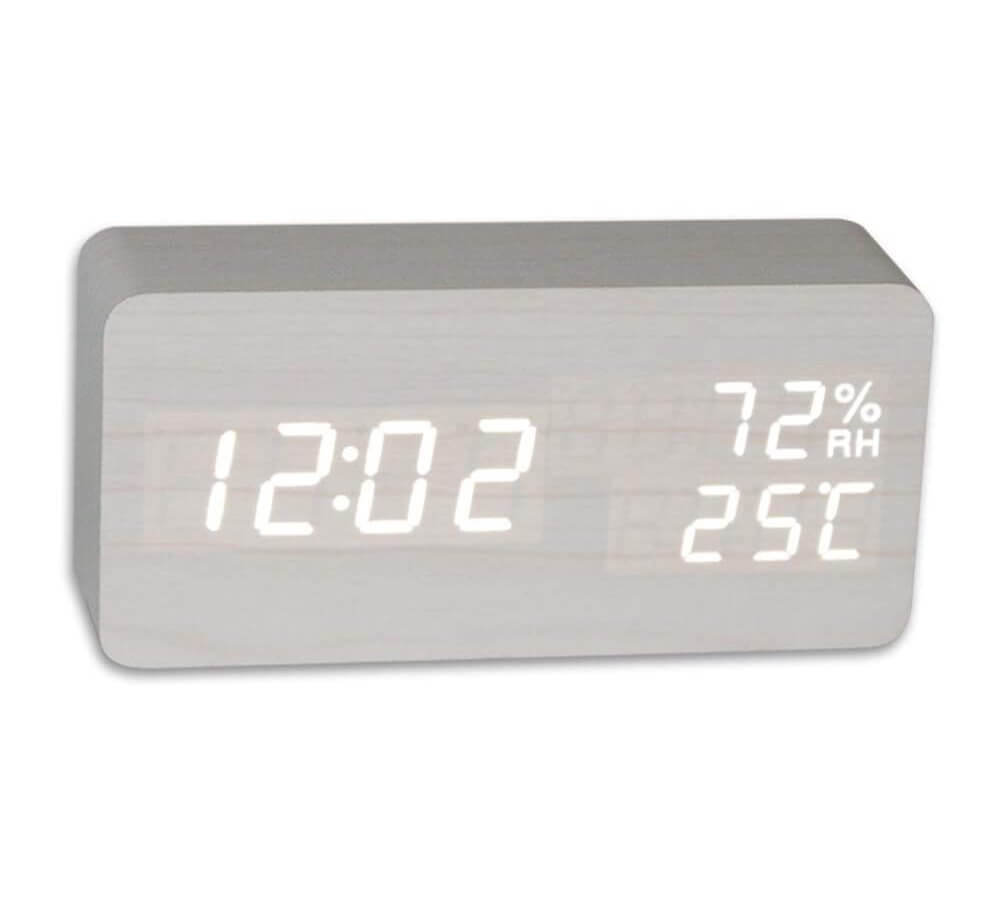 REDGO Digital Alarm Morning Clock with Large LCD
