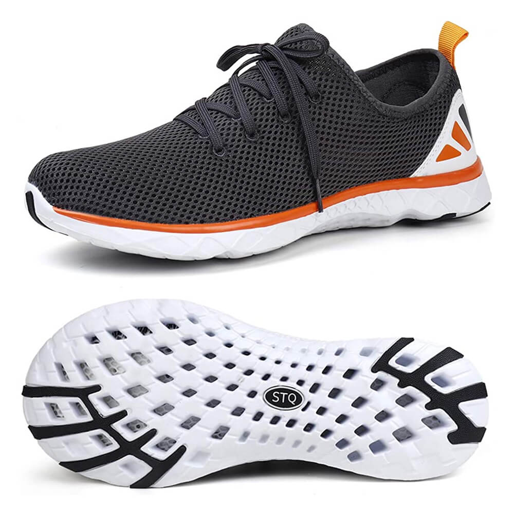 STQ Mens Lace-up Water Shoes