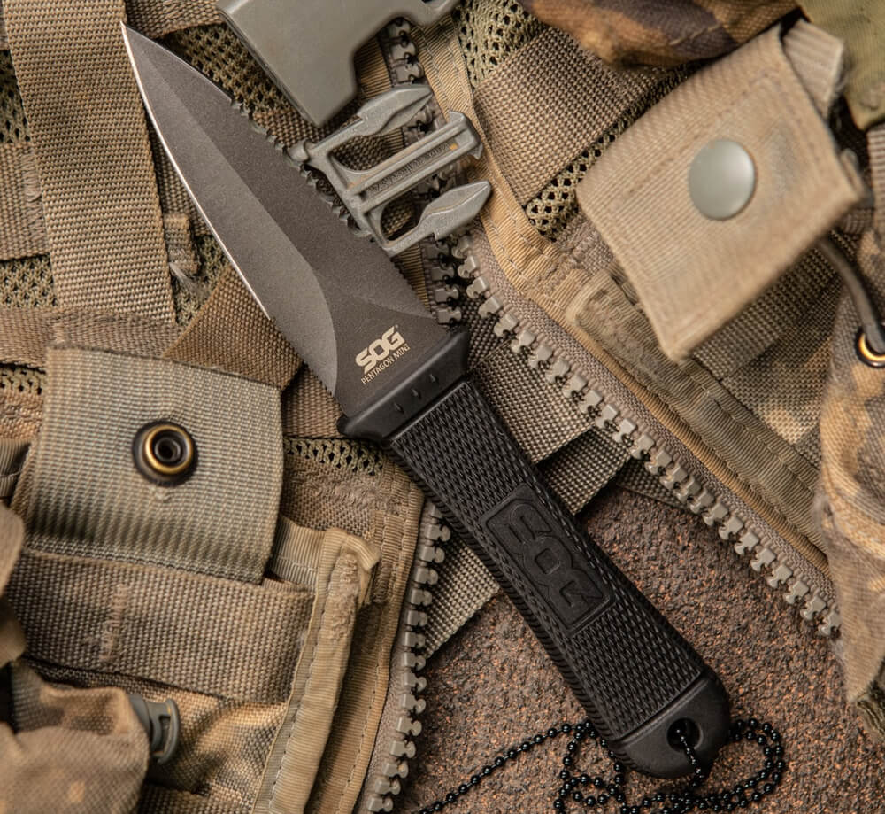 SOG Mini Pentagon KYDEX Sheath Tactical Knife