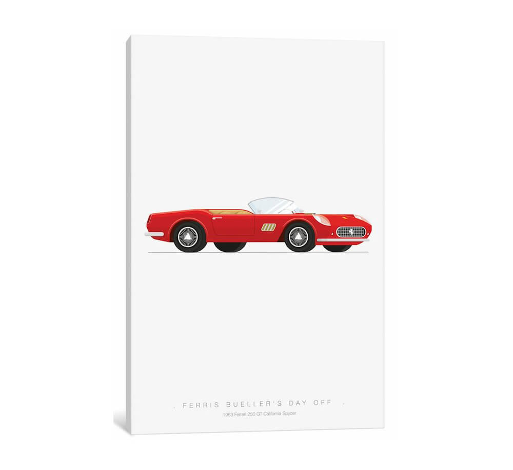 Famous Cars Series: Ferris Bueller's Day Off Office Wall Art