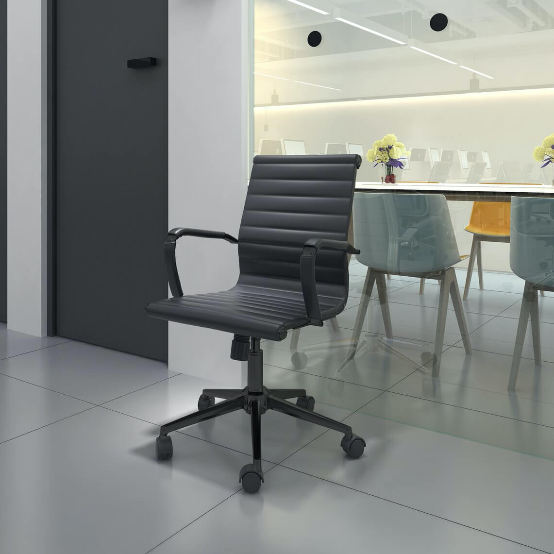 Latitude Run® Mid Century Modern Office Chair