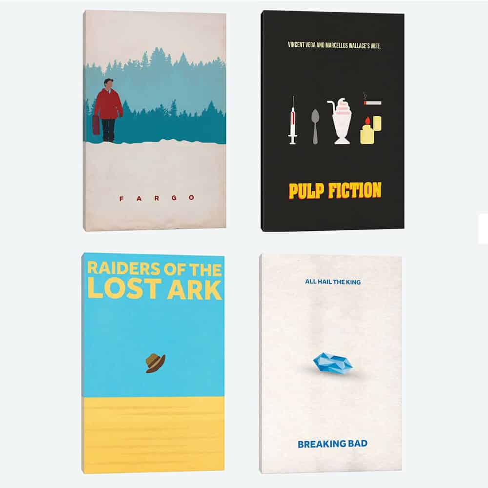 Minimalist Fargo Graphic Art Print on Canvas