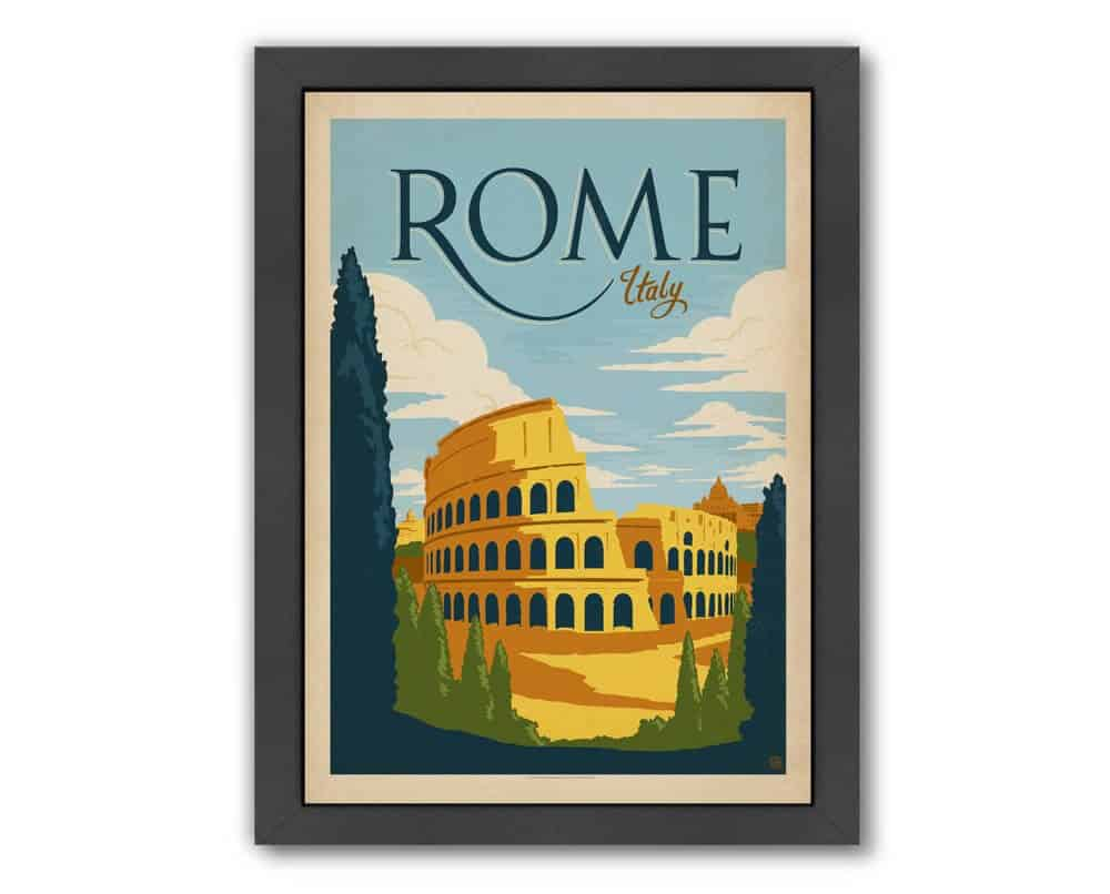 Rome Framed Vintage Advertisement Print