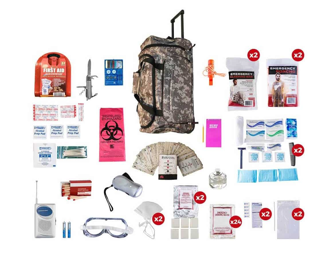 Black Hawk Survival - 2 Person Deluxe Survival Kit (72+ Hours)
