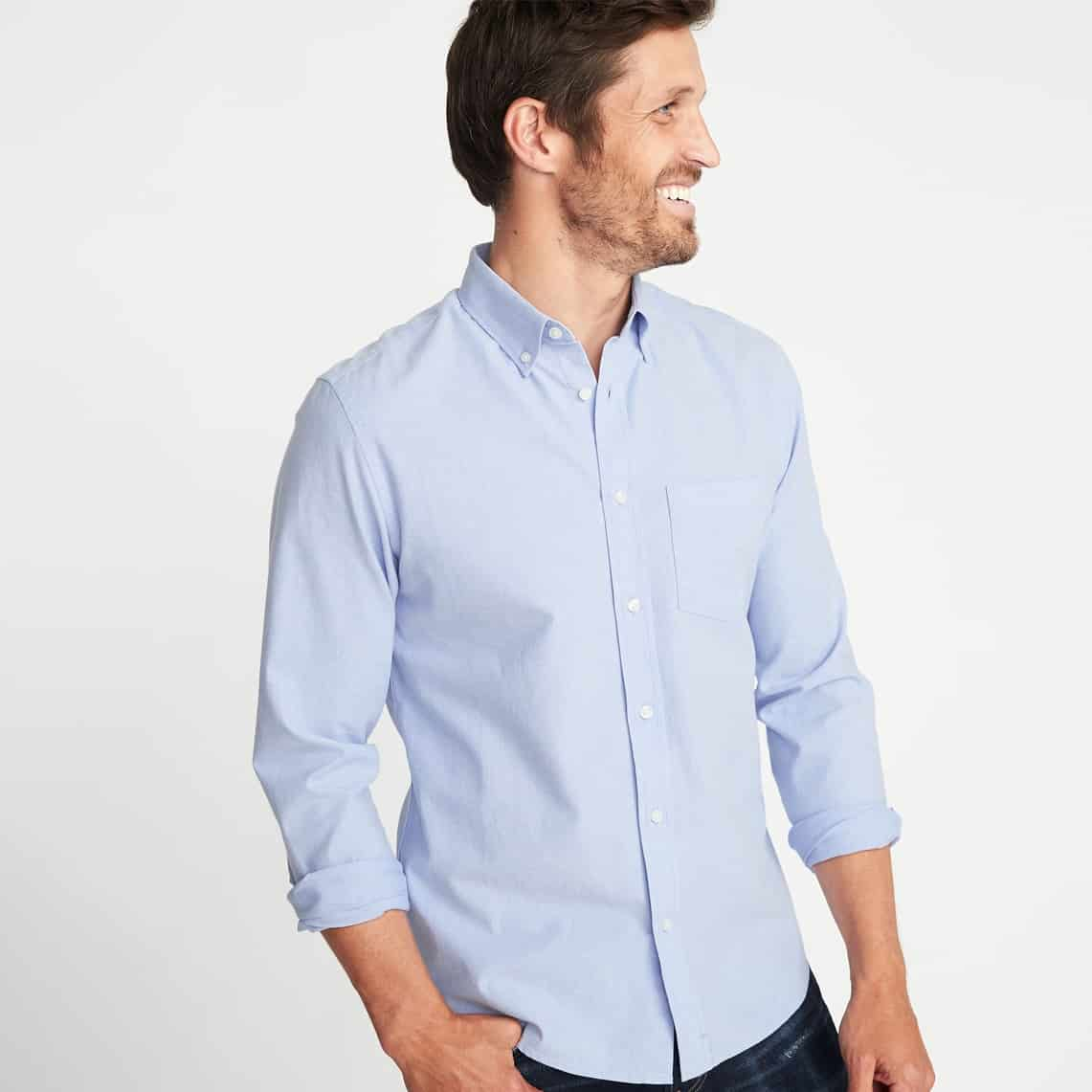 Old Navy - Slim-Fit Built-In Flex Everyday Oxford Shirt For Men