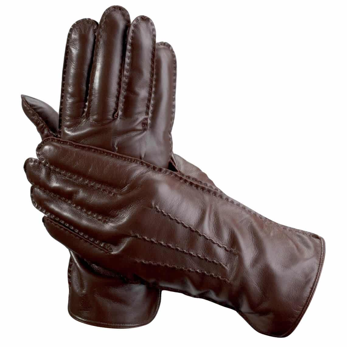 Aspinal of London - Men's Cashmere Lined Leather Gloves