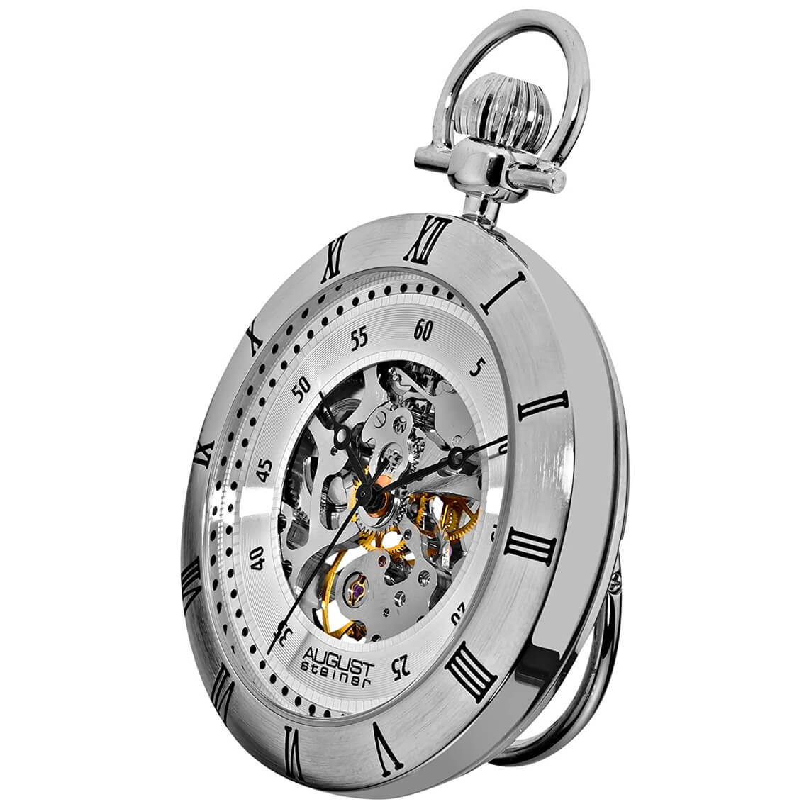 August Steiner Automatic Mechanical Pocket Watch