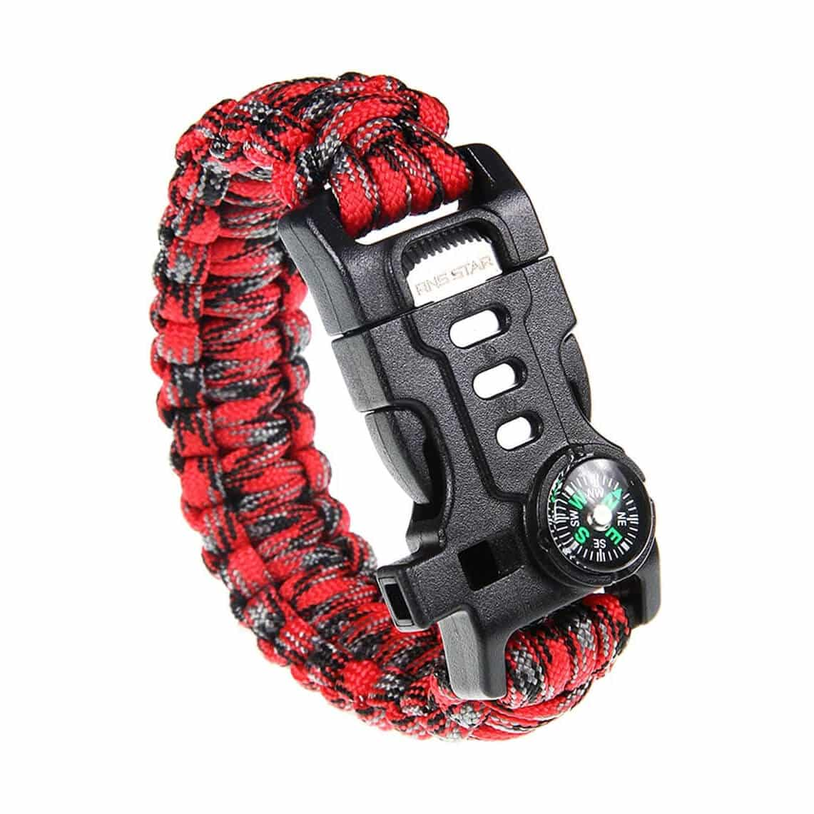 RNS STAR Paracord Survival Bracelet with Paracord Rope