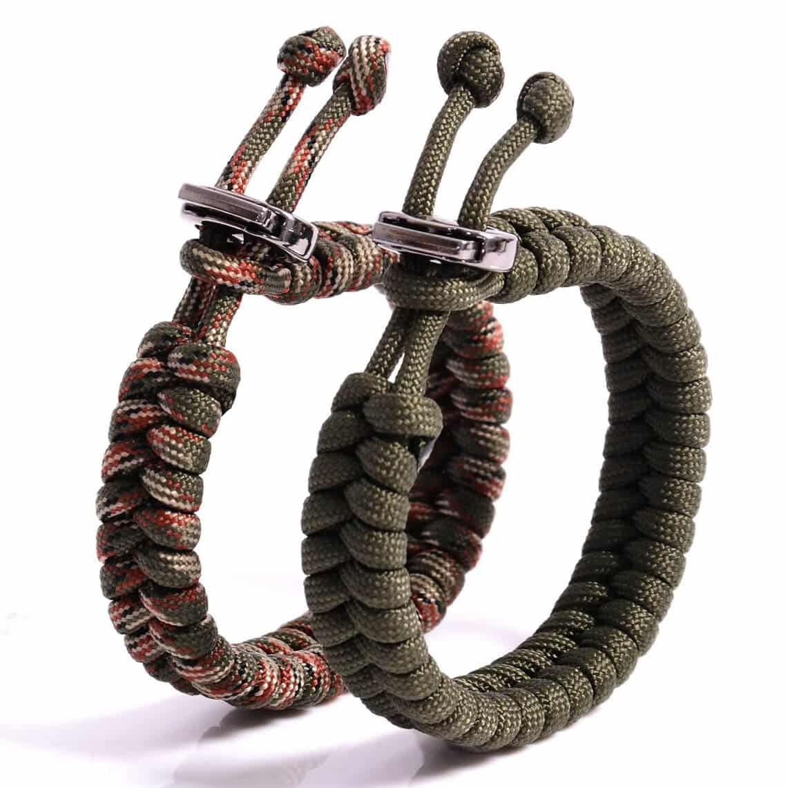 The Friendly Swede Fish Tail Paracord Survival Bracelets with Metal Clasp