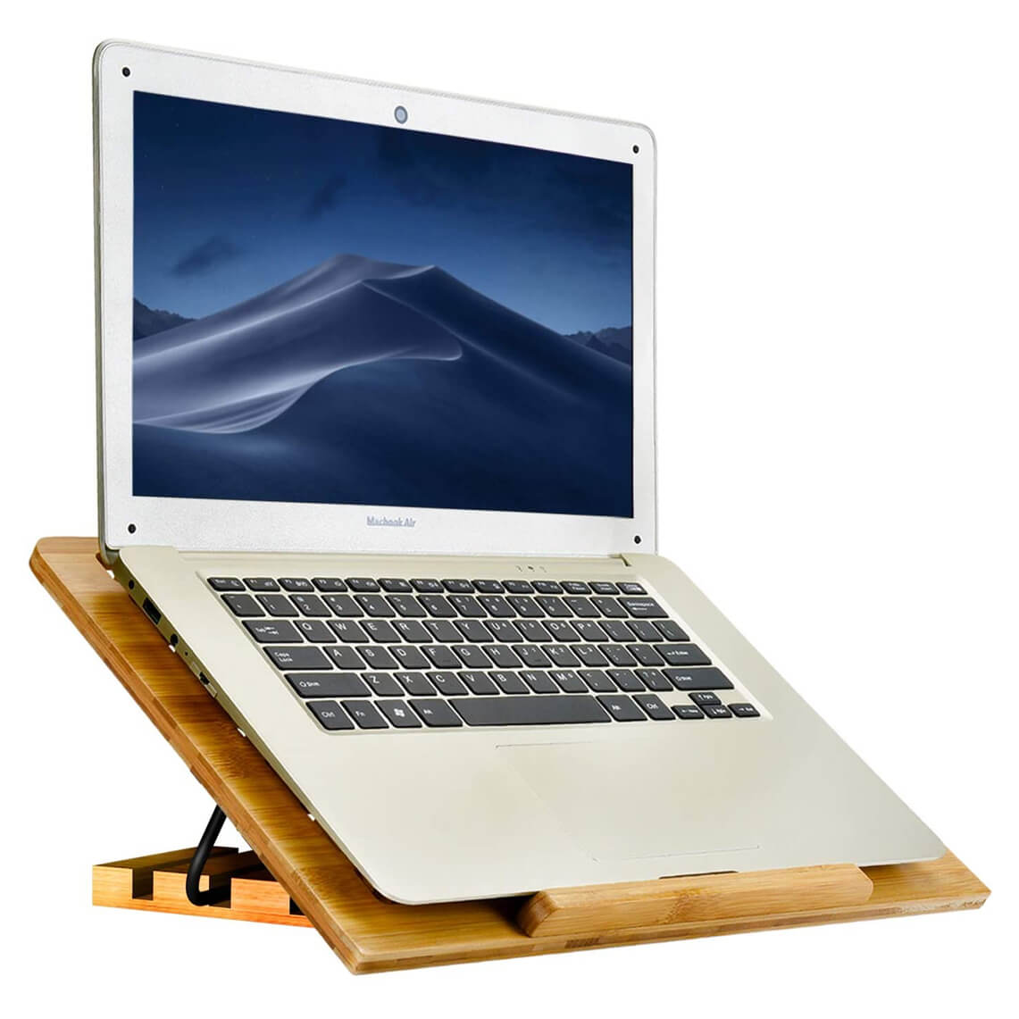 WishACC Bamboo Adjustable Laptop Stand