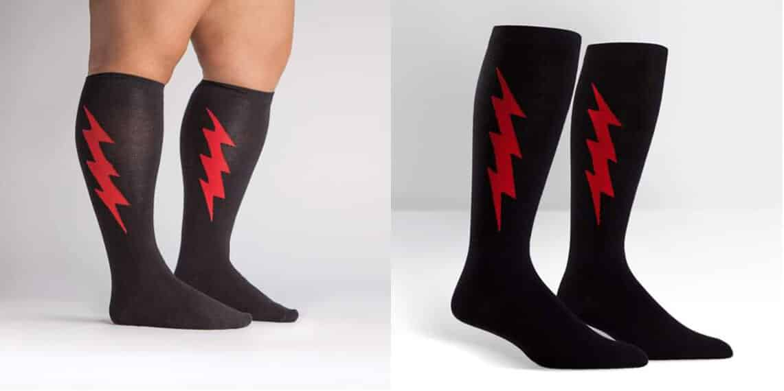 STRETCH-IT™ Super Hero! Red & Black Socks