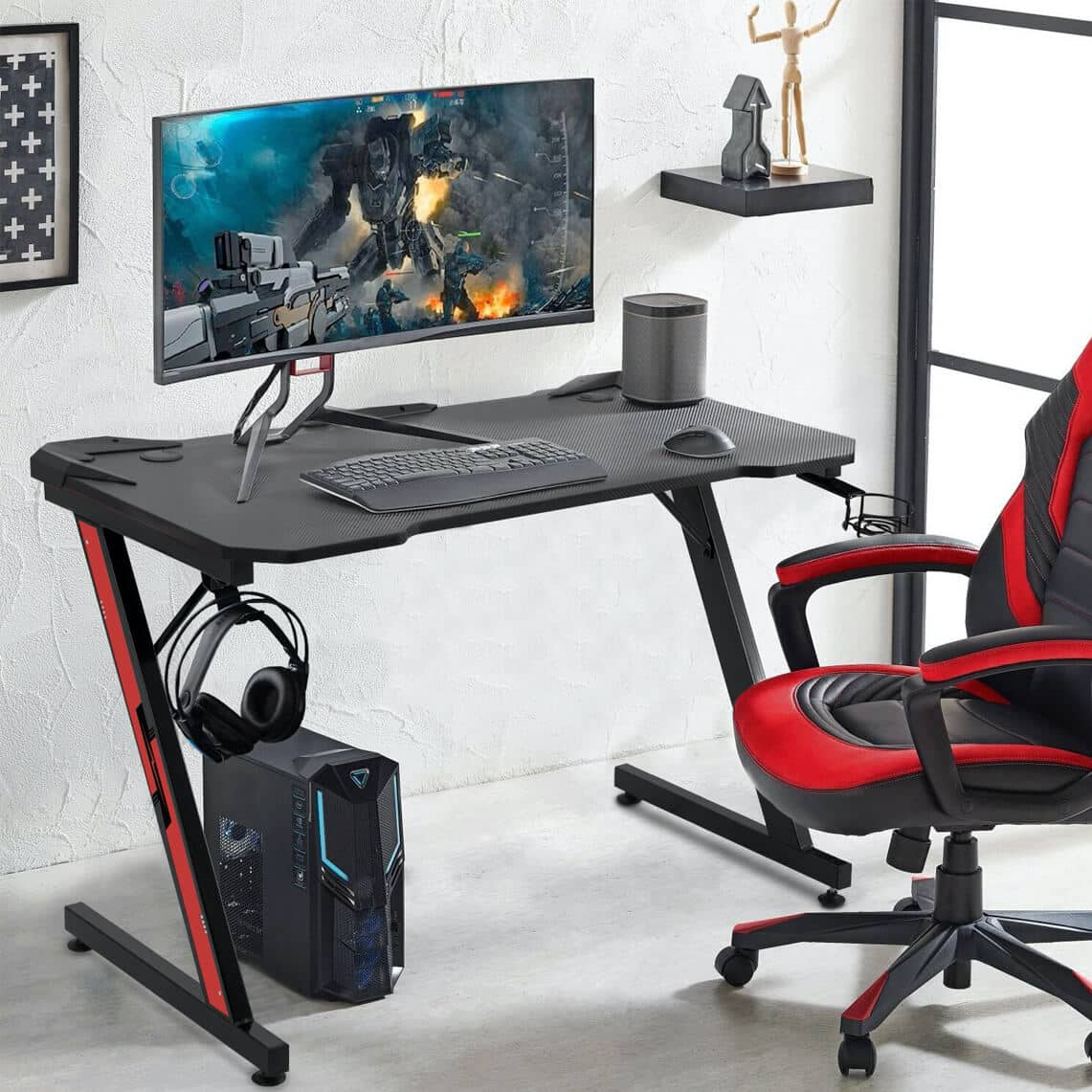 Symple Stuff Sinead Ergonomic Gaming Desk