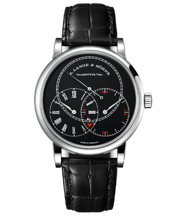 RICHARD LANGE JUMPING SECONDS White gold with dial in black