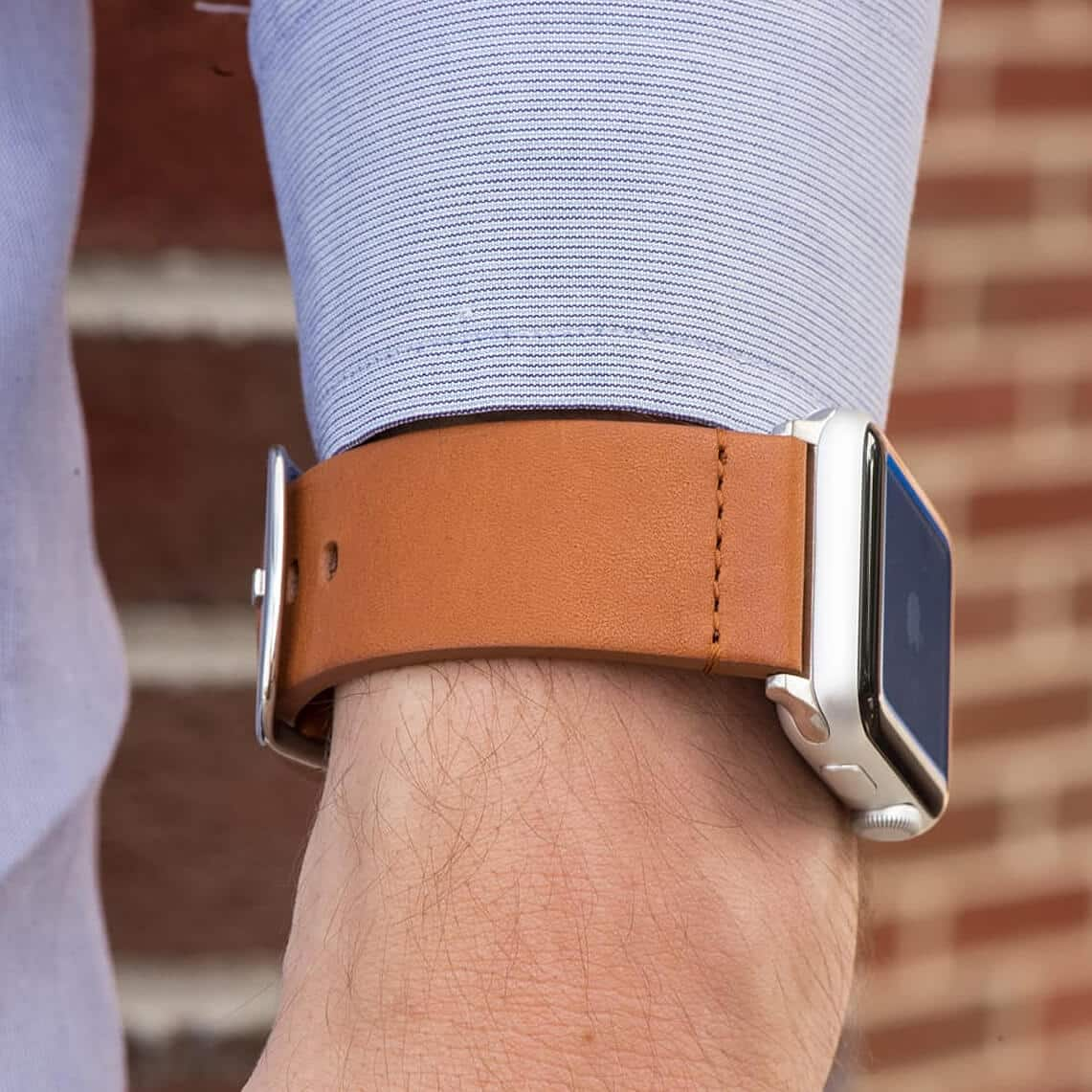 Clockwork Synergy Saddle Leather Band for Apple Watch