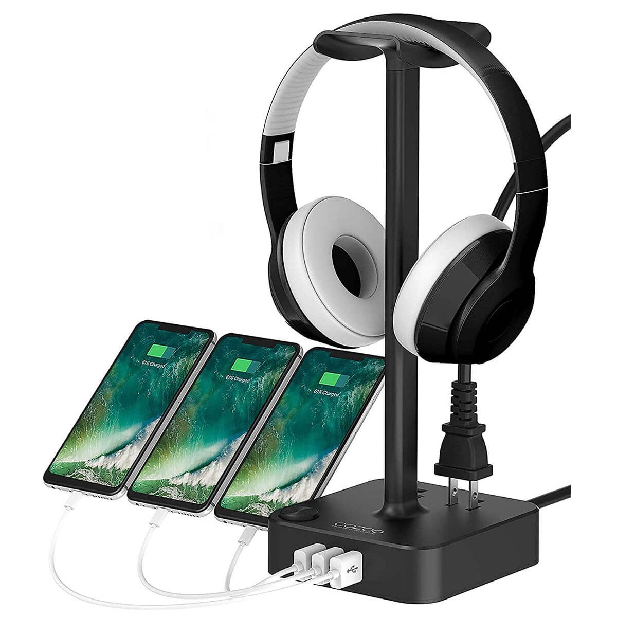 Cozoo USB Charger Headphone Stand