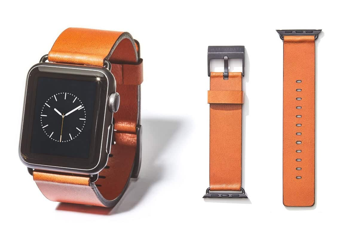 Grovemade Tan Leather Apple WatchBand