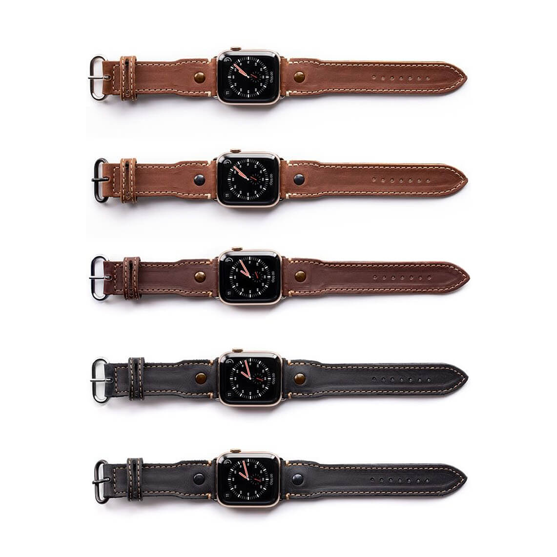 Pad & Quill Leather Pilot Bands for Apple Watch