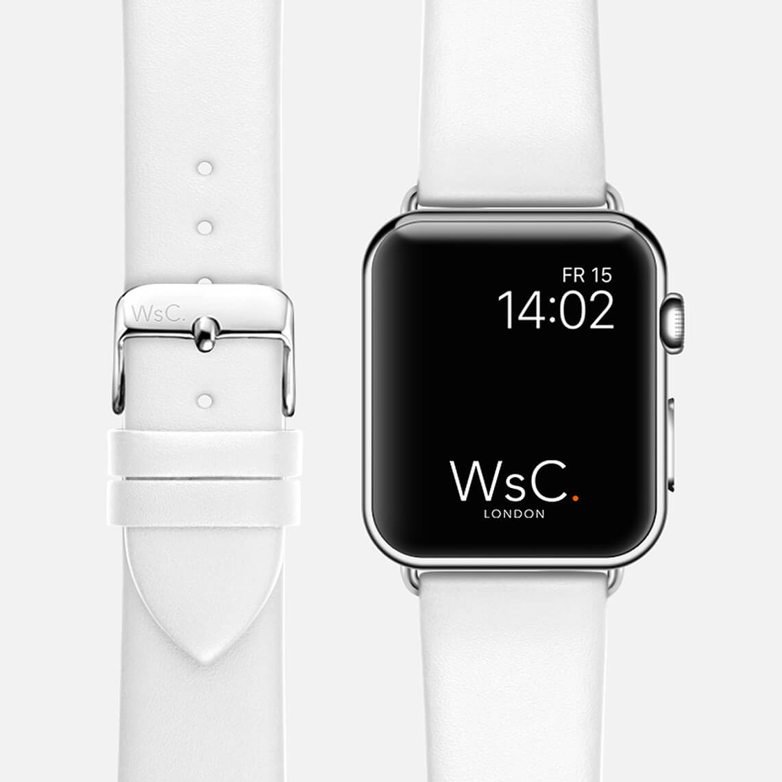 WsC Oxford White Apple Watch Band