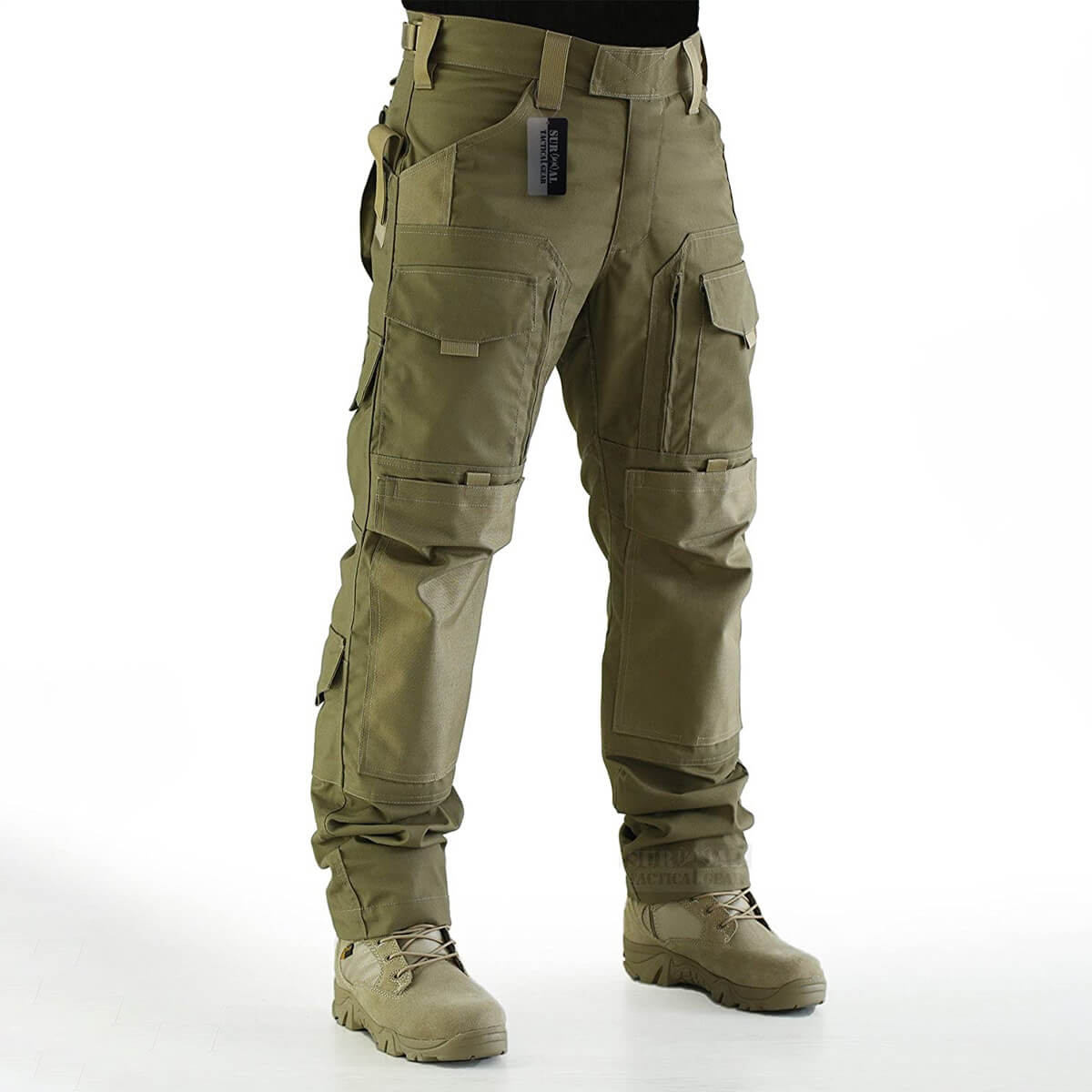 ZAPT Tactical Molle Ripstop Combat Trousers Army