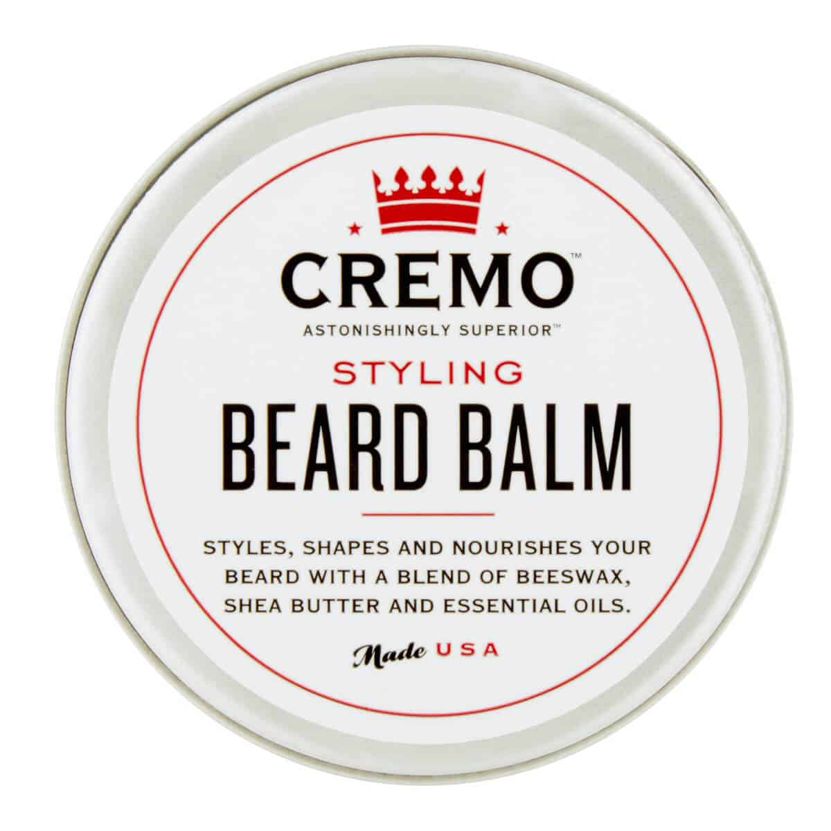 Cremo Astonishingly Superior Styling Mint Blend Beard Balm, 2 oz