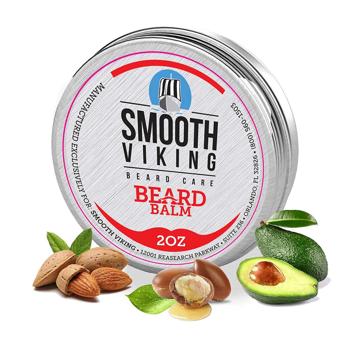 Smooth Viking Beard Balm with Essential Oil & Beeswax (2 Oz)