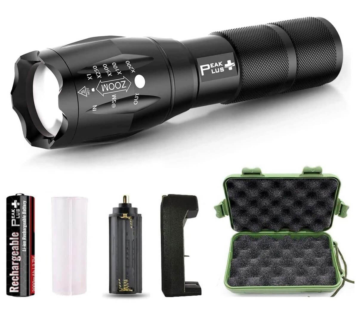 PeakPlus LFX1000 Tactical Flashlight